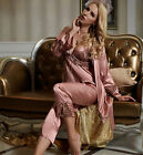 Wholesale New Perfect Silk Blend 3pcs Lady's Sleepswear/ Pajama Sets M/L/XL/2XL
