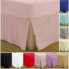 100% Egyptian Cotton 200 Thread Count Box Pleated Fitted Valance Bed Sheets
