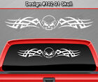 Design #102-01 Skull Rear Window Decal Sticker Vinyl Graphic Tribal Spikes Car