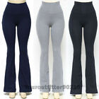 Women's YOGA Pants Athletic GYM Fold over Waistband Flare Leg Tight Leg Cotton