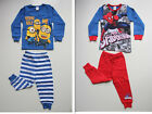 New Spiderman DESPICABLE ME Minions Winter Cotton Pyjamas Tee+Pants