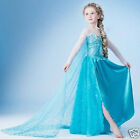 Frozen Dress Elsa Blue Silver Princess Girls play party age 2 to 5 years cosplay