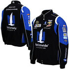 2015 Dale Earnhardt Jr Nationwide Mens Black Twill Authentic Nascar Jacket-JH