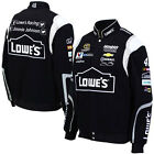 2015 Jimmie Johnson Lowe's Mens Black Twill Authentic Nascar Jacket-JH Design