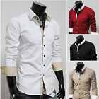 SALABLE 2015 Mens Dress Shirts Casual Formal Shirts Handsome Business Work Shirt