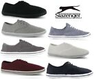 Mens Slazenger Lace up Canvas Pumps Plimsolls Shoes Trainers 7 Colours Size:6-15