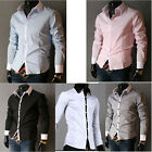 FREE P&P Mens Casual Shirts Slim Long Sleeve Formal Dress Shirt Office Work Tops