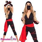 Ladies Deadly Spirit Ninja Samurai Master Costumes Halloween Fancy Dress Outfits