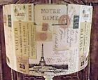 Vintage Paris Tickets lamp shade,lampshade shabby chic french city eifel tower