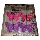 Decorative Craft Butterfly 8cm x 4.5cm  Painted Feather Wings Art Decoration