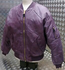 MA1 US Military Style Bomber Jacket MOD/Scooter/Bikers Maroon Stone Washed - NEW