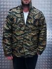 US Military Style M65 Lined Combat Jacket Tiger Camo MOD Scooter - All Sizes NEW
