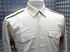 Genuine British Army Officer & OR Barrack & No2 Dress Shirt Fawn All Sizes - NEW