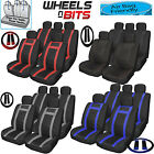 Universal  PU Leather Look Feel Car Seat Cover Full Set Airbag Safe Wipe Clean