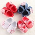 Adorable Baby shoes Polka Dot flower girls infant toddler crib 3 sizes soft #FU
