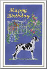Great Dane Birthday Card Embroidered by Dogmania  - FREE PERSONALISATION