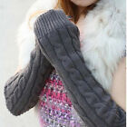 Arm Warmer Cute Glove Winter Women Girl Knit Fingerless Long Gloves PSM035