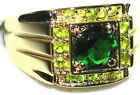 Men's Emerald & Peridot Ring         R4    May & August Birthstones