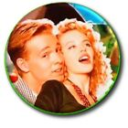 KYLIE MINOGUE  JASON DONOVAN FAB 1980s NOSTALGIA BUTTON BADGE 25 MM 1