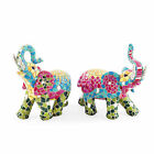 Coloured Mosaic Resin Elephant Garden or Home Ornament - Two Designs Available