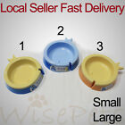 Pet Dog Cat Food Water Plastic Bowl Feeder Dishes Base Anti-Skid Small & Large