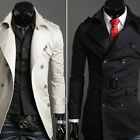 Celebrity Stylish Vintage Trench Coat Mens Overcoat Outerwear Casual Long 2015 J