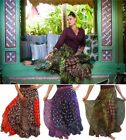 @K993 SKIRT MAXI BATIK PATCHWORK LAYERED S M L XL 1X 2X 3X 4X 5X 6X MADE 2 ORDER