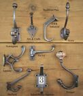 Antique Vintage Style Cast Iron Coat Hooks -Coice Of Design & Size x 1 Hook