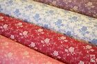 100% COTTON POPLIN PRINT FABRIC - ROSES & STEMS