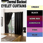BLACKOUT Eyelet THERMAL CURTAINS , supersoft unique material