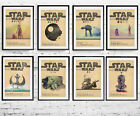 A3 or A4 Size * STAR WARS Alternative Movie Posters * Minimal Vintage Wall Art £8.99 GBP
