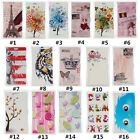 Classic Cartoon Vintage PU Leather slot wallet flip Case Cover For LG #1