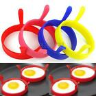 2 4 6PCS Silicone Fry Oven Poacher Egg Mold Poach Pancake Ring Kitchen Tool