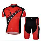 Bike Short Sleeve Clothing Bicycle Cycling Sportwear Suit Jersey + Shorts M-3XL