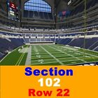 2 TIX Indianapolis Colts Season Tickets 9/6 Lucas Oil Stadium 142