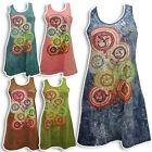 BOHO/HIPPY/GYPSY HIPSTER MINI BODYCON STRETCH DRESS, YOGA HINDU OM AUM YP8C