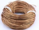 1.5mm Leather Cord For Bracelet necklace String lines 5/10M coffee/silver