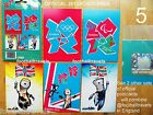 5 OFFICIAL LONDON 2012 PARALYMPICS POSTCARDS Olympics Wenlock Mandeville