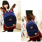 Women Fashion Girl Canvas Lovely Sweet Backpack Camping Cat Vogue Bookbag Bag