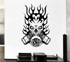 Wall Decal Army Fire Gas Mask Skull Death Soldier Mural Vinyl Stickers (ed134)