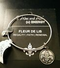 CHEAP! Alex and Ani FLEUR DE LIS Russian Silver Bangle Bracelet NEW!! STAMPED