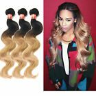 Hot 3Bundles Brazilian Human Hair Extension 2tone:1b/27 Ombre Hair Body Wave New