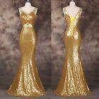 Sequins SPARKLY Prom Party Bridesmaid Cocktail Gown Evening Long MERMAID Dresses