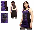 Spiral Direct Fatal Attraction Camisole Rose Snake Lace Up Dress Sizes M L X/L
