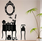 VINTAGE MAKE UP ROOM WALL STICKERS , MAKE UP STCIKER / WALL QUOTE / N120