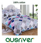 Premium New Rhombus Single/Double/Queen/K Bed Quilt/Doona/Duvet Cover Set Cotton