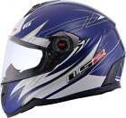 LS2 Factory FF387 Change Up Blue Graphic Full Face Motorcycle Riding Helmet
