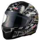 LS2 CR1 Impact Gold Black Graphic Full Face Motorcycle Riding Helmet