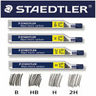 12 STAEDTLER MARS MICRO MECHANICAL PENCIL REFILL 0.3mm LEADS HB B H 2H