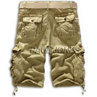 2015 Pop Mens Casual Half Army Cargo Camo Combat Work Shorts Pants Trousers 3col